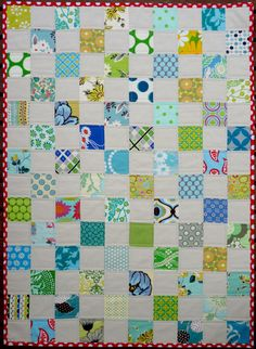 SALE SALE Modern Baby Patchwork Quilt suitable by redpepperquilts