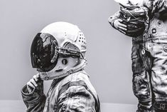 Blank Space: Black and White Astronaut Portraits by Robert Cybulski #inspiration #photography