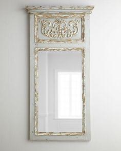 gorgeous antiqued trumeau mirror