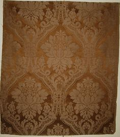 Beautiful Antique Late 19th C. French Silk/Cotton Woven Damask Fabric (8761)