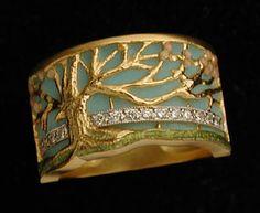 Masriera- Tree of Life enameled ring