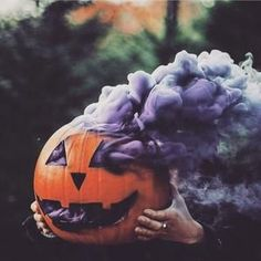 purple smoke bomb pumpkin halloween smoke grenade photography Source by bumblemyass Halloween Tags, Halloween Chic, Casa Halloween, Halloween 2019, Holidays Halloween, Halloween Pumpkins, Halloween Crafts, Halloween Decorations, Halloween Party