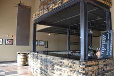 Distillery tasting room bar