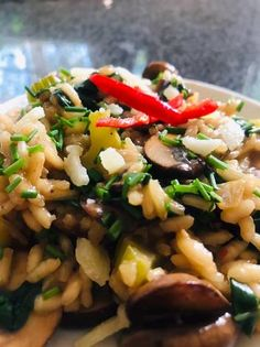 Mushroom Risotto Recipe by Bavani Naidoo Risotto Rice, Mushroom Risotto, Weekday Meals, Risotto Recipes, Sauteed Mushrooms, Mushroom Recipes, Kung Pao Chicken, Great Recipes, Spinach