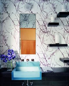 Love this bathroom design! I want to paint one in my own home