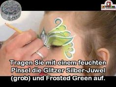 little girl green fairy paint