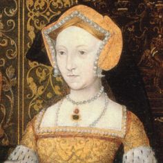 Jane Seymour, Detail beets with descriptions of Jane however the original sitter for this portrait was Katherine Howard as Jane had died.  So creepy.