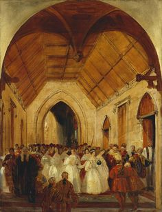 The Coronation of Queen Victoria, 28 June 1838 : The Queen leaving Westminster Abbey | Royal Collection Trust