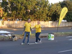 Wakefields Berea and their watering table at the Savages 21km road race! #Fun the #Wakefieldsway