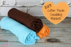 DIY Cotton Muslin Swaddling Blankets - Make your own aden + anais swaddling blankets for cheap! Must Have Mom