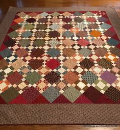 My mom loves the reproduction fabrics. The colors just speak to her. She sees some of the my usual quilts, with bright and bold fabri...