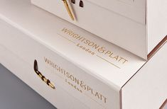 Luxury Packaging Designed by Emma Bristow, produced by Wrapology