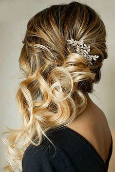 Ombre wedding hairstyles are on trend this year. Here are sizzling solutions for black, brown and blond hair. Technique looks good on long and short hair.