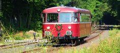 Im roten Schienenbus durch das Kasbachtal - das Steilstrecken-Bahnerlebnis von Linz am Rhein nach Kalenborn!