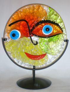 Blown Glass Art | s046c20 profilo murano glass plate description fused and blown glass ...