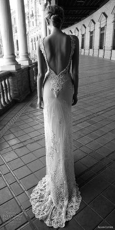 alon livne 2017 bridal sleeveless jewel neckline keyhole heavily embellished bodice elegant sexy sheath wedding dress low back chapel train (alexis) bv