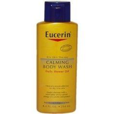 Eucerin Calming Body Wash Daily Shower Oil -- 8.4 fl oz by Eucerin - use as shampoo
