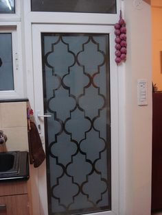 DIY frosted glass. this looks awesome!