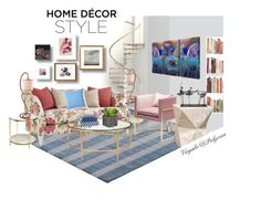 """""""Home Decor 3"""" by viryabo ❤ liked on Polyvore featuring interior, interiors, interior design, home, home decor, interior decorating, Palecek, Universal Lighting and Decor, Mapleton Drive and Heal's"""