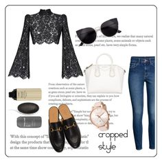 """""""Cropped Style"""" by egaemgyu on Polyvore featuring Rasario, H&M, Gucci, Ted Baker, Givenchy, croptop and gucci"""