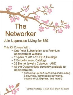 Looking to be INSPIRED??? Join my Uppercase Living team for only $59! No strings attached with our Networking Starter Kit! http://tferrari.uppercaseliving.net/JoinMyTeam.m