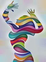 striped woman design