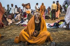 A man prays during the Maha Kumbh Mela in Allahabad, India. The Maha Kumbh Mela, believed to be the largest religious gathering on earth, is held every 12 years on the banks of Sangam. Om Namah Shivaya, Invisible Children, Kumbh Mela, World's Biggest, Hinduism, Culture, Indian, People, Rivers