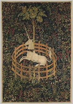 Unicorn Tapestries at the Cloisters – New York, New York . Discover Unicorn Tapestries at the Cloisters in New York, New York: Mysterious Medieval Tapestry, Medieval Art, Renaissance Art, Medieval Times, Unicorn Art, Magical Unicorn, Unicorn Poster, Unicorn Books, Beautiful Unicorn