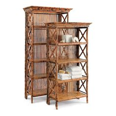 Rattan & Bamboo Bookshelves