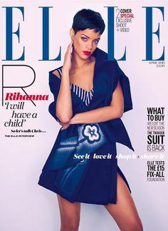awesome Elle UK | Capas e Editorial Moda Abril 2013 | Rihanna por Mariano Vivanco