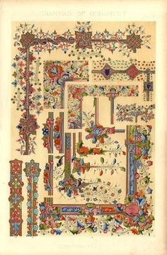 Illuminated Mss No. 2 (Pl. LXXII), R-Print, Owen Jones (1809-74) ($240)