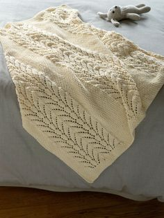 Classic Lace Baby Throw in Lion Brand Cotton-Ease - free pattern