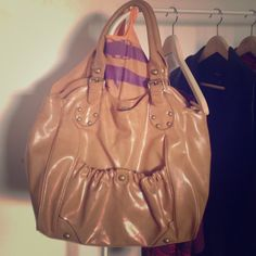 Large Tote Bag in a light brown/tan color Charlotte Russe Bags Totes
