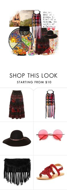 """""""Hippie"""" by kmaryk ❤ liked on Polyvore featuring MSGM, Fallenbrokenstreet, Retrò, SUSU, Married and AmiciMei"""