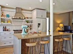 Reclaimed Wood Kitchen Stools Jackson Design and remodeling