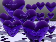 It's like saying I love you from the moon and back. Purple's one of my favorite color too. Purple Love, All Things Purple, Shades Of Purple, Purple Hearts, Purple Stuff, Deep Purple, My Funny Valentine, Love You Images, Pretty Images