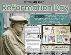 October 31st is Reformation Day, a day to celebrate Martin Luther and the Protestant Reformation. Teach your upper elementary students about this important day with fun and engaging activities that will help them to retain and retell what they've learned.