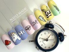 Ideas For Nails Design Short Art Tutorials Stylish Nails, Trendy Nails, Cute Nails, My Nails, Simple Nail Designs, Nail Art Designs, Nails Design, Nails Ideias, Nail Drawing