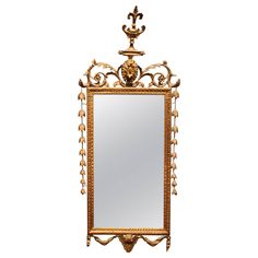 Italian 19th Century GIltwood Mirror | From a unique collection of antique and modern wall mirrors at https://www.1stdibs.com/furniture/mirrors/wall-mirrors/