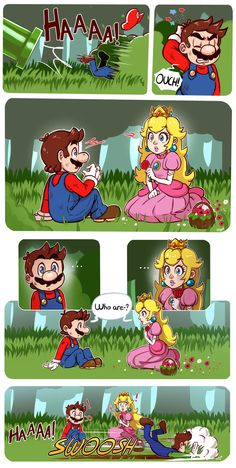 A new comic concept, little stories about Mario and his friends Drawing by Holy © All characters belongs to Nintendo © The -first- meeting - Super Mario's Stories Super Mario Bros, Nintendo Super Smash Bros, Super Mario Brothers, Super Mario Memes, Games Memes, Video Games Funny, Instructions Lego, Mario Comics, Mario Y Luigi