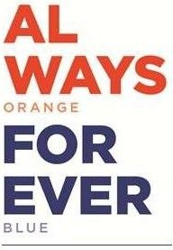 Always orange and blue!