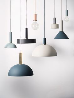 Design your own lamp with ferm LIVING Collection Lighting. The lampshade is compatible with all socket pendants from the COLLECT Lighting series. Interior Lighting, Home Lighting, Kitchen Lighting, Interior Styling, Lighting Design, Pendant Lighting, Pendant Lamps, Contemporary Pendant Lights, Chandelier