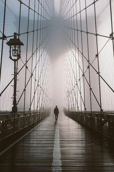 Crossing the bridge...