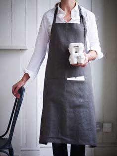 Linen Grocers Apron NEW - Kitchen & Dining #coxandcoxkitchen