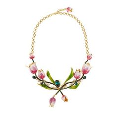 Dolce & Gabbana Citta tulip necklace ($2,995) ❤ liked on Polyvore featuring jewelry, necklaces, gold multi, clear necklace, tulip necklace, dolce gabbana jewelry, sparkle jewelry and tulip jewelry