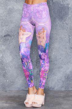 Mucha Amethyst Leggings - 48HR ($75AUD) by BlackMilk Clothing