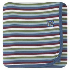 Kickee Pants Swaddling Blanket - Boy Space Stripe