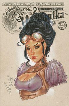Lady Mechanika Blank cover by Elias-Chatzoudis on DeviantArt Steampunk Book, Steampunk Artwork, Steampunk Couture, Steampunk Fashion, Comic Art Girls, Comics Girls, Comic Book Artists, Comic Artist, Aspen Comics