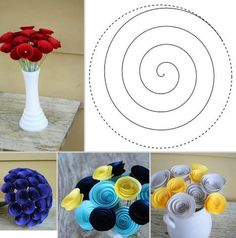 Flower craft idea via I love creative designs and unusual ideas on Facebook