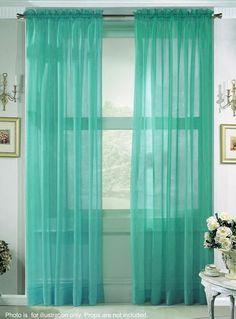 these aqua curtains